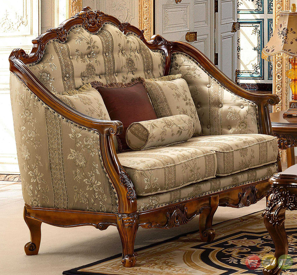 Antique living room set modern house for Chair living room