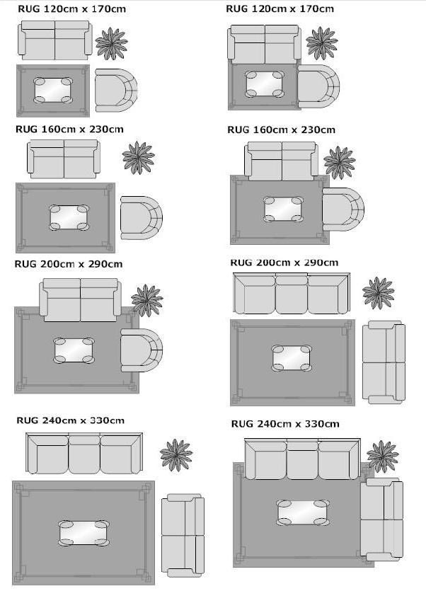 Standard area carpet sizes carpet vidalondon for Living room rug size guide