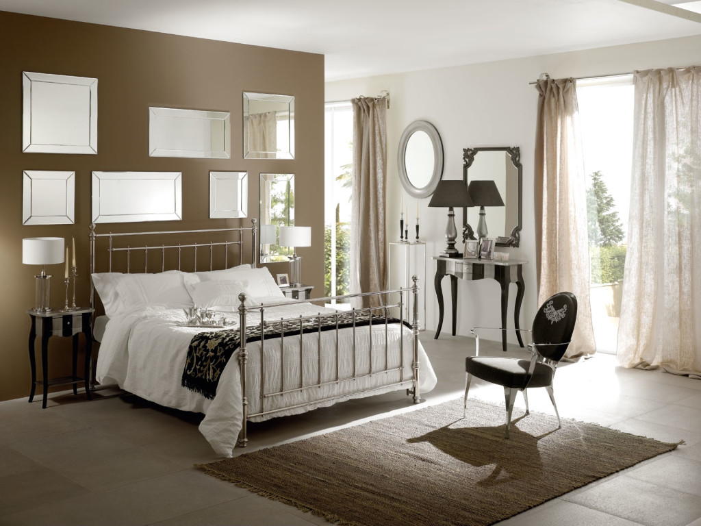 Bedroom with Mirrors