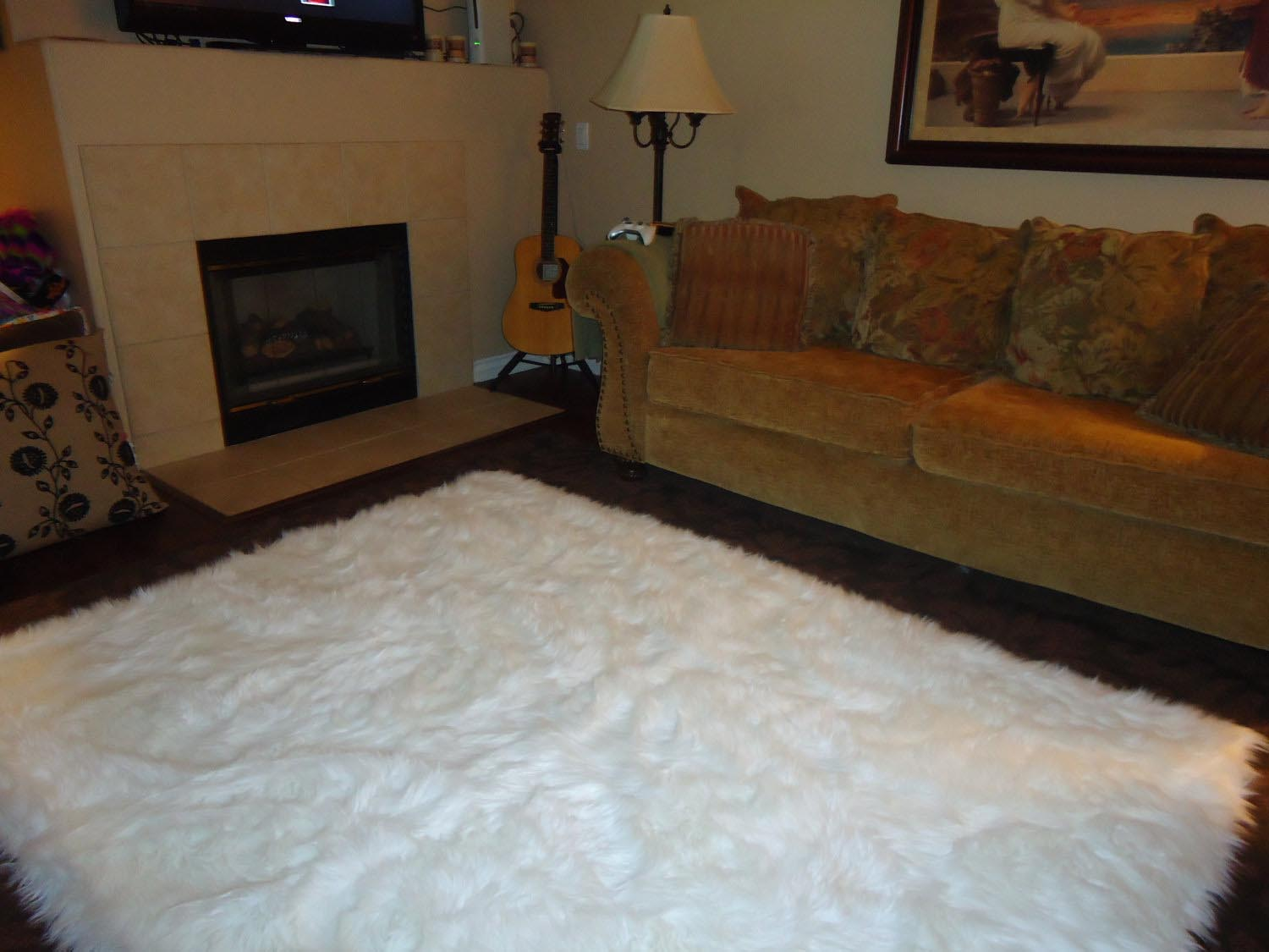 shag fur r white furry nongzi ebay uk faux roselawnlutheran of rug unique ikea zoom co