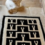 Black and White Moroccan Rug
