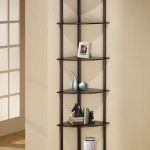 Black Corner Shelves Wall