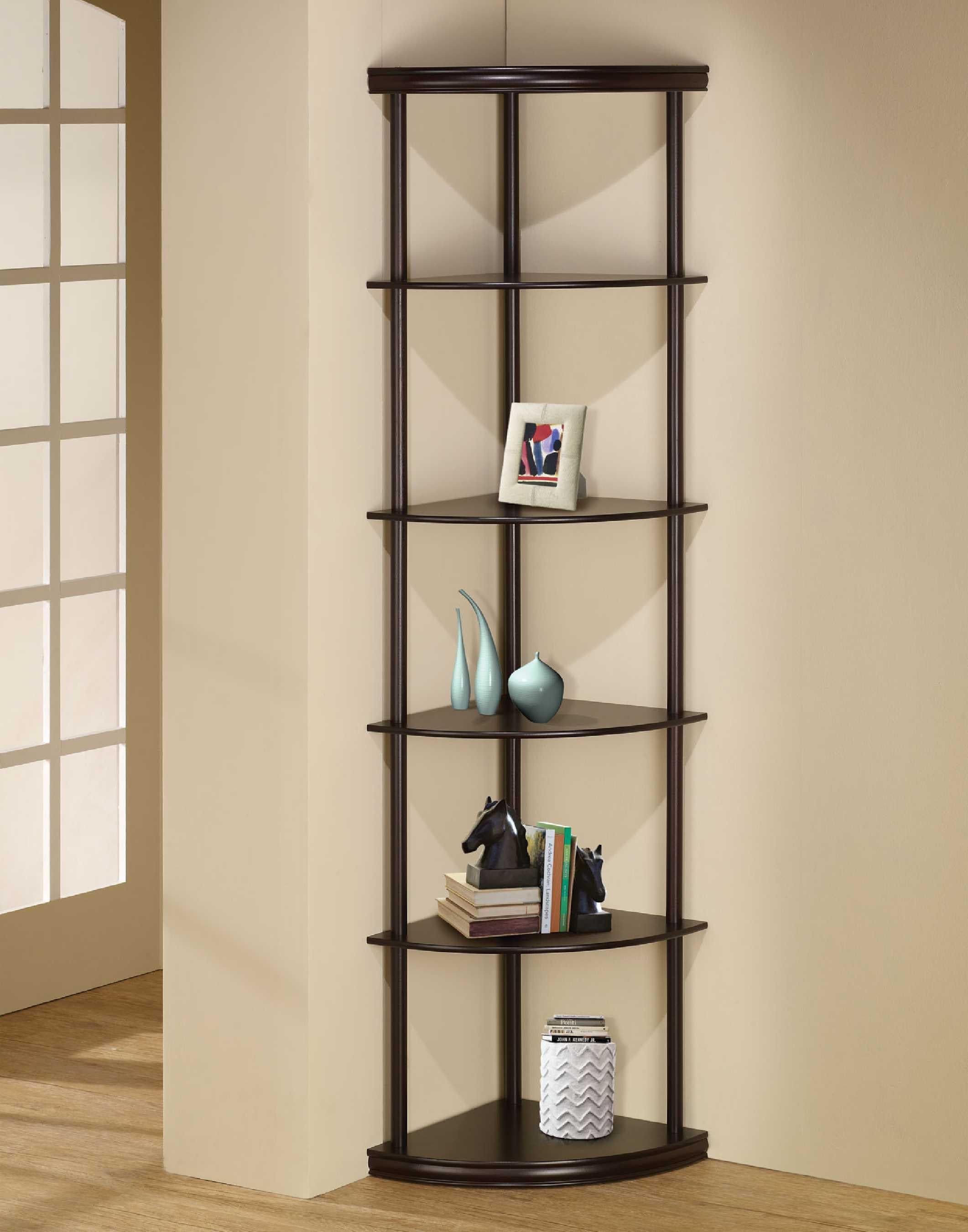 Black Corner Shelves Wall