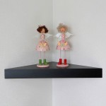 Black Corner Wall Shelves