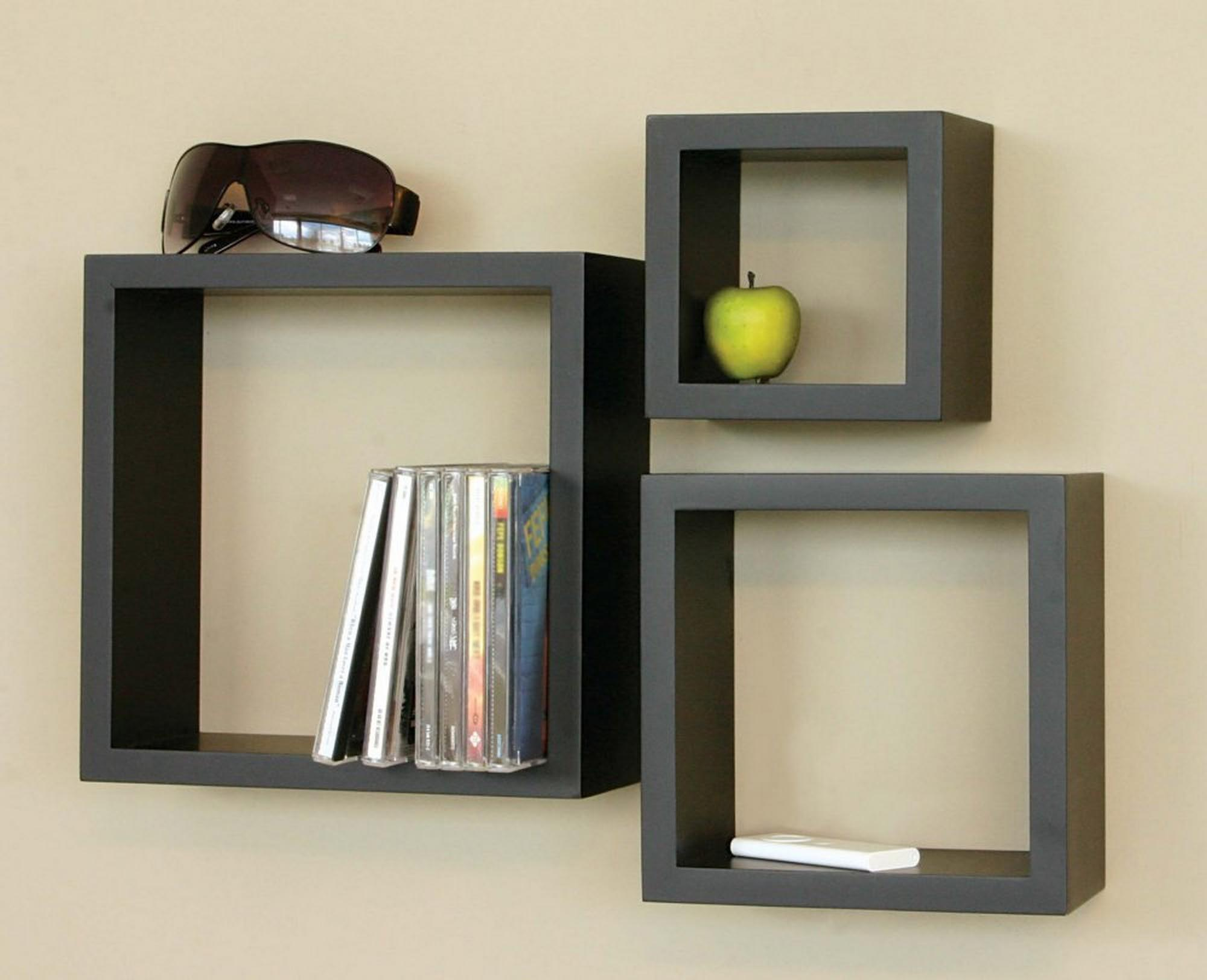 Black Decorative Wall Shelves