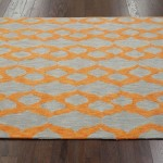 Blue and Orange Area Rug