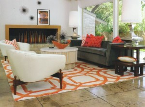 Bright Orange Area Rug