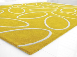Bright Yellow Area Rug