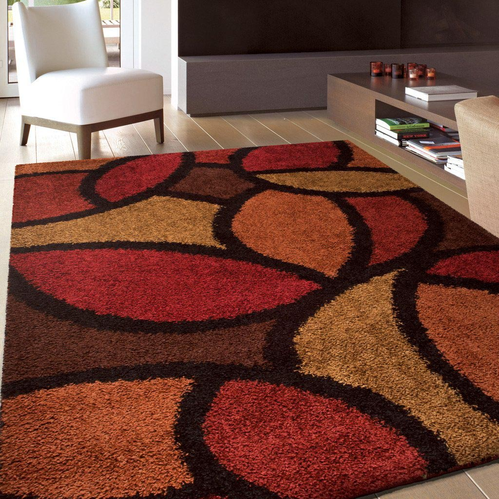 Brown And Orange Area Rug