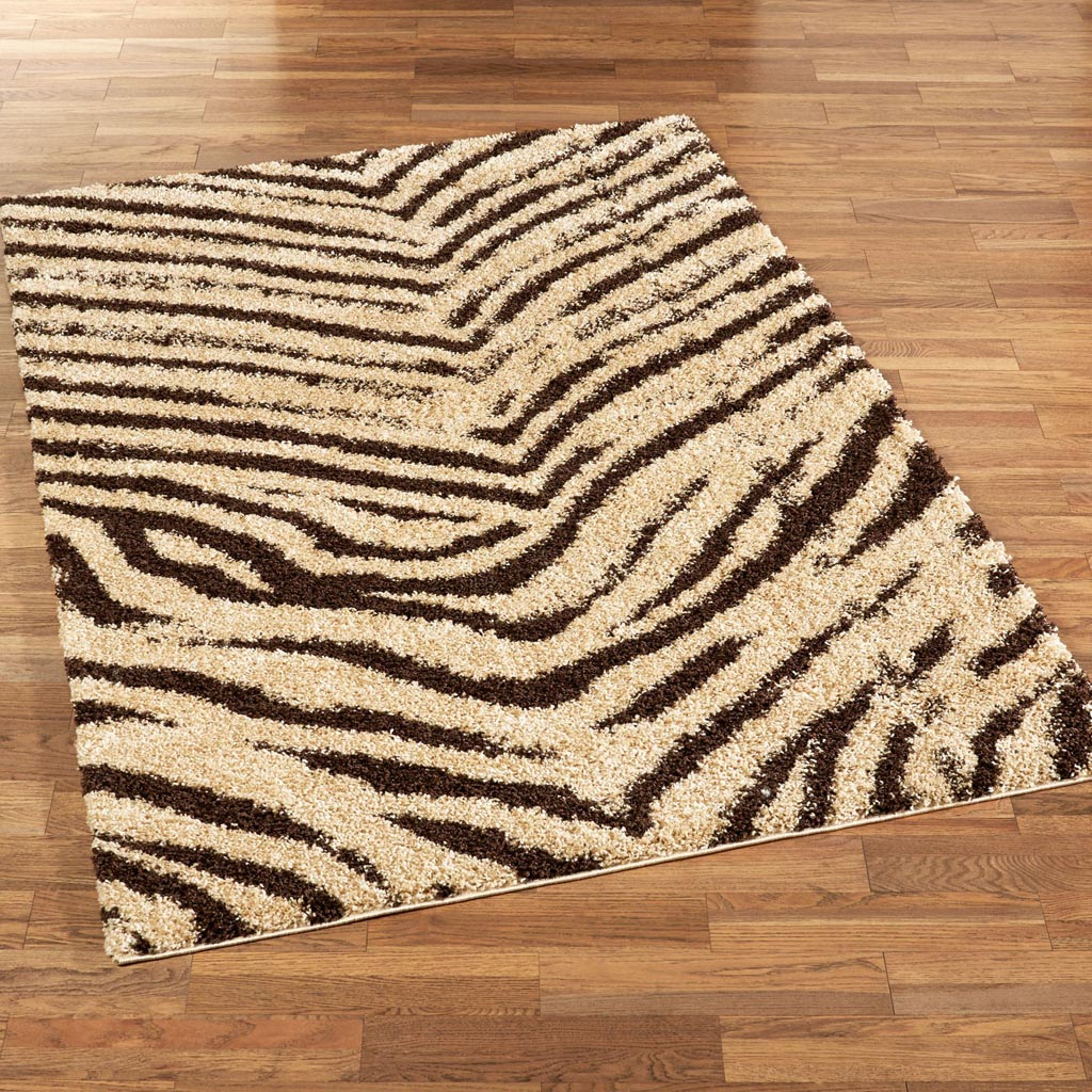 Brown Zebra Area Rug