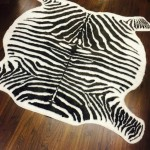Brown Zebra Hide Rug