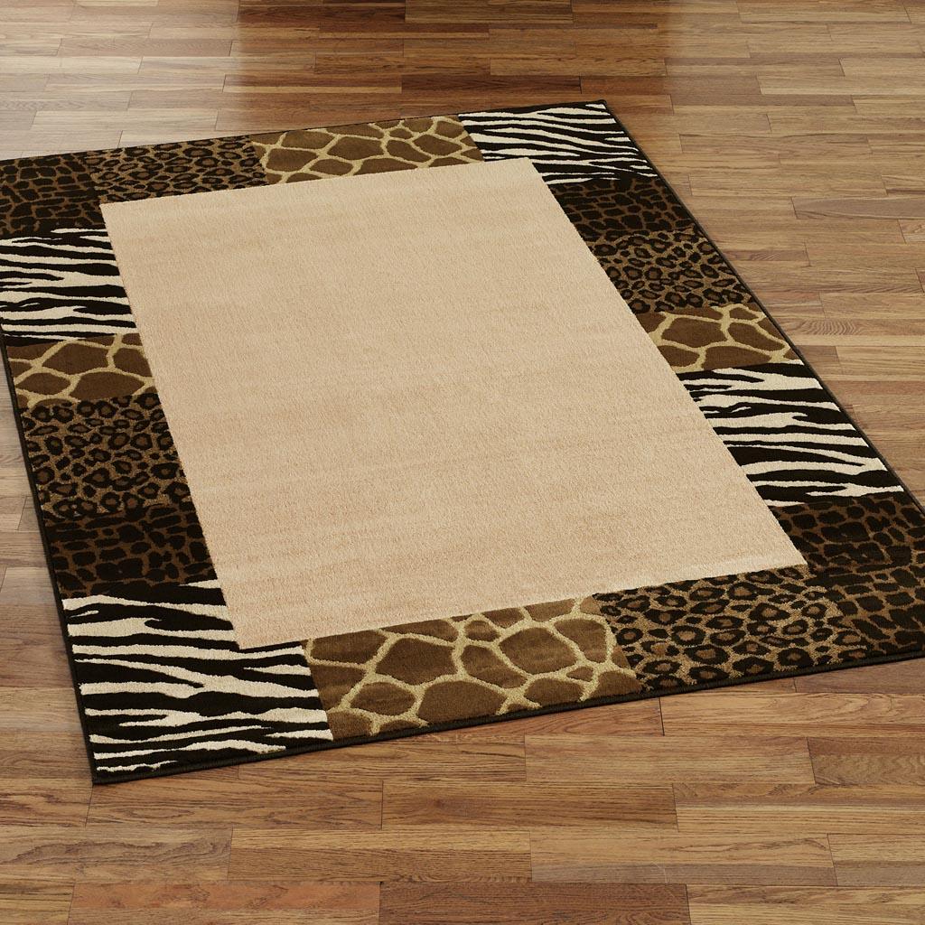 Brown Zebra Print Area Rug
