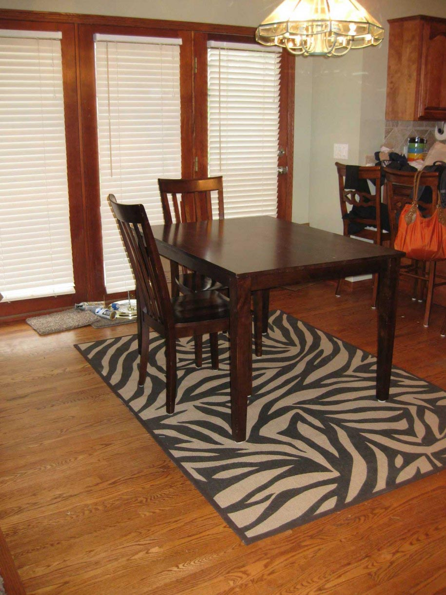 Brown Zebra Print Area Rug