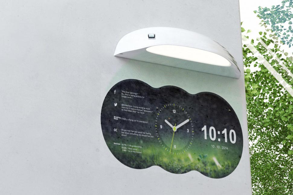 Cool digital clocks for home office and living best Cool digital wall clock