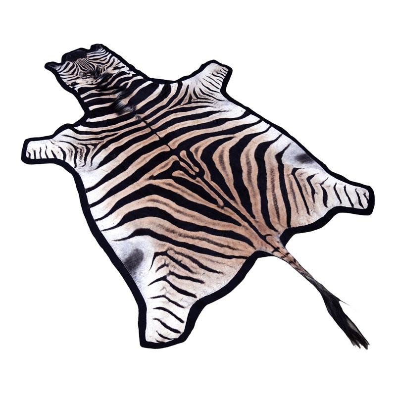 Cowhide Zebra Print Rug