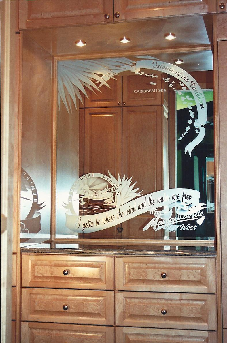 Custom Etched Glass Mirrors