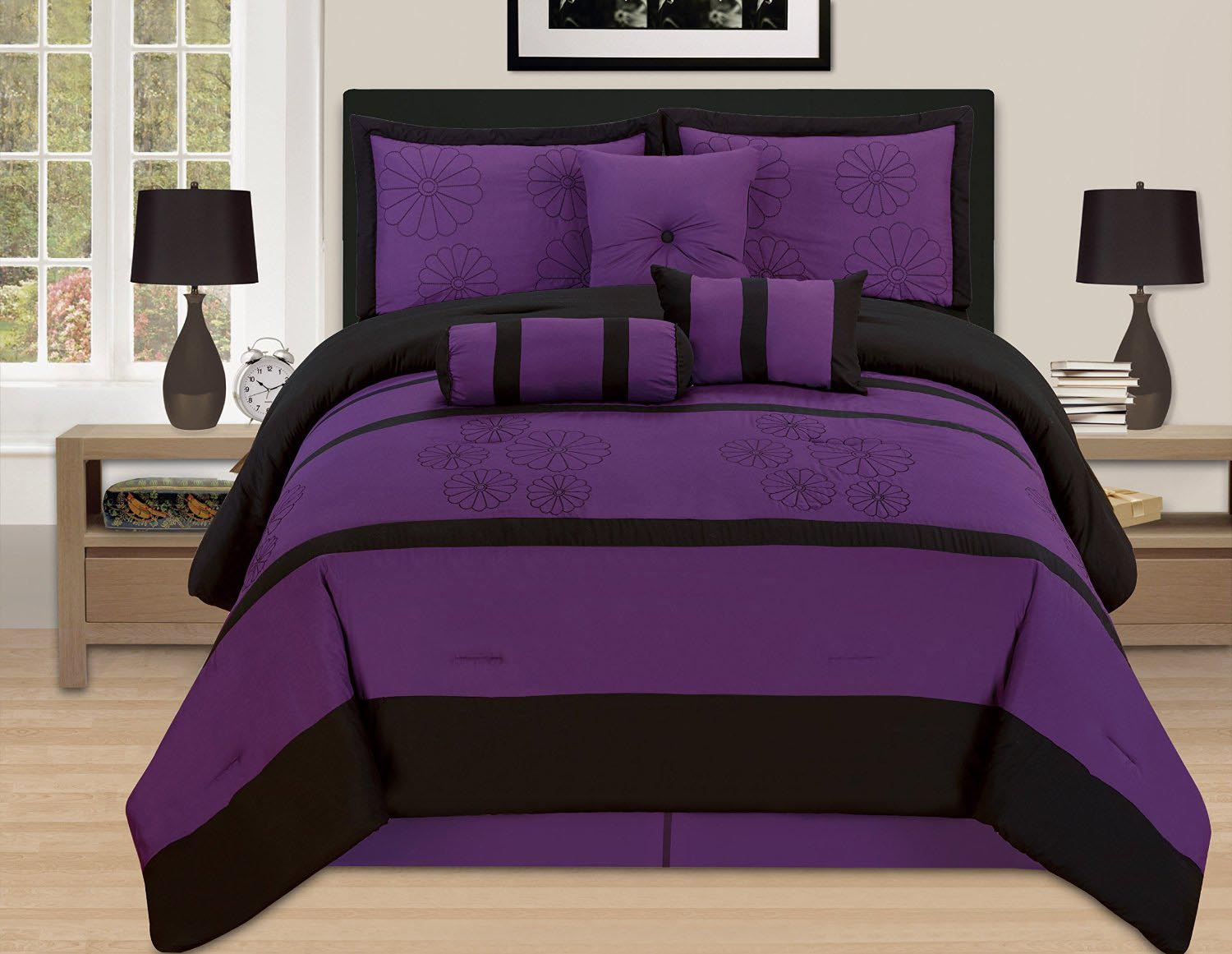 Dark Purple Throw Pillows
