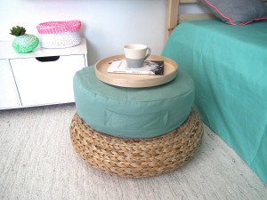 DIY Floor Poufs