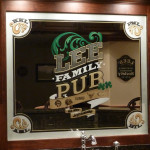 Etched Bar Mirrors