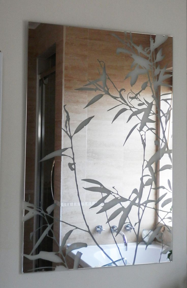 Etched glass mirrors bathroom best decor things for Mirror glass design