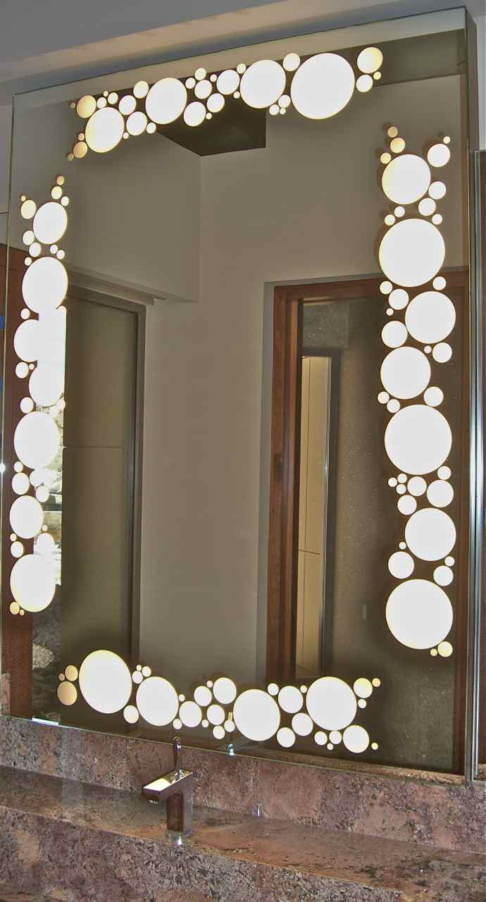 Etched Mirrors Bathroom