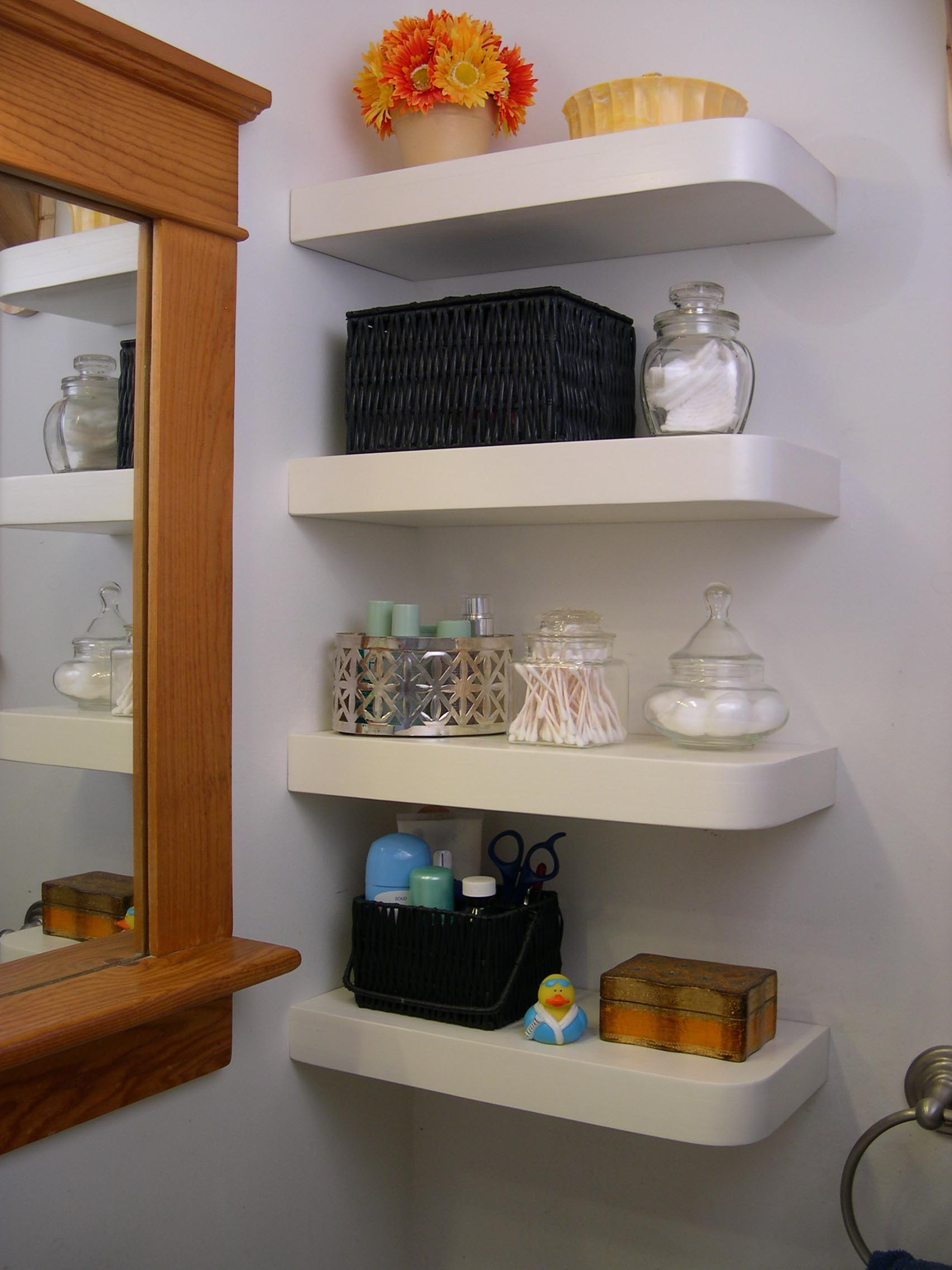 Floating Corner Wall Shelves