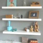 Floating White Wall Shelves