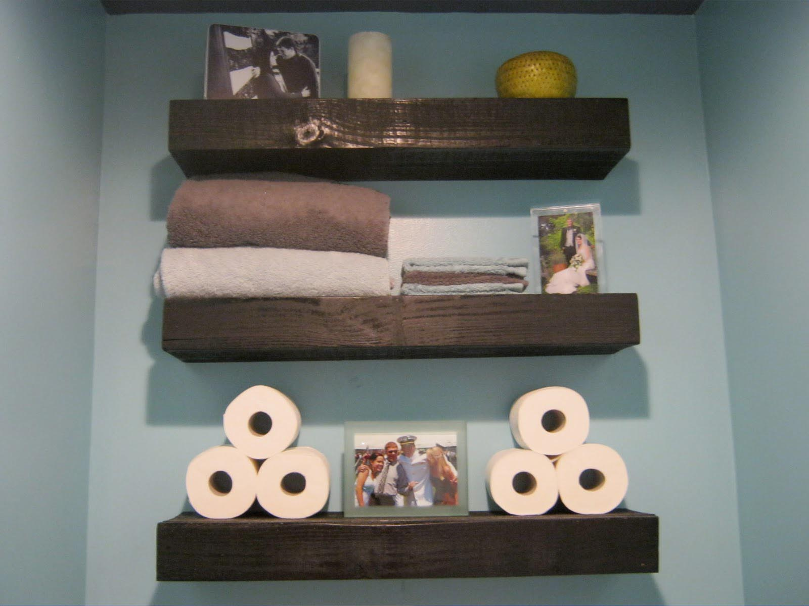Floating Wooden Wall Shelves