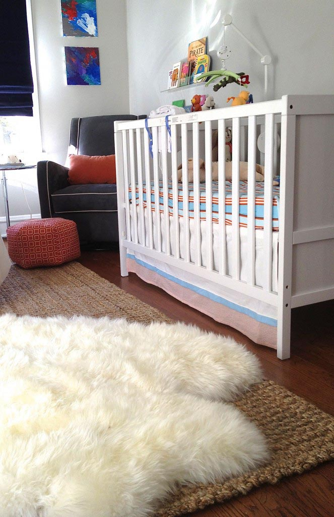Fluffy White Rug for Nursery