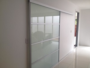Frosted Glass Panels Room Dividers