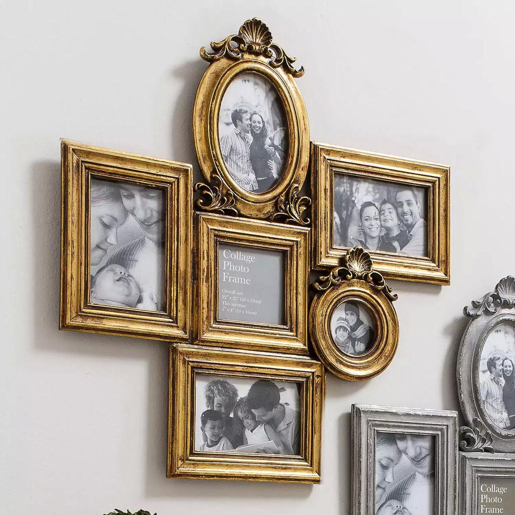 Gold Collage Picture Frames