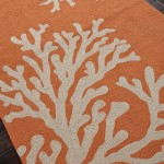 Gray and Orange Area Rug