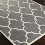 Gray and White Rug
