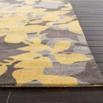 Gray and Yellow Area Rug