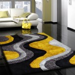 Gray and Yellow Rug