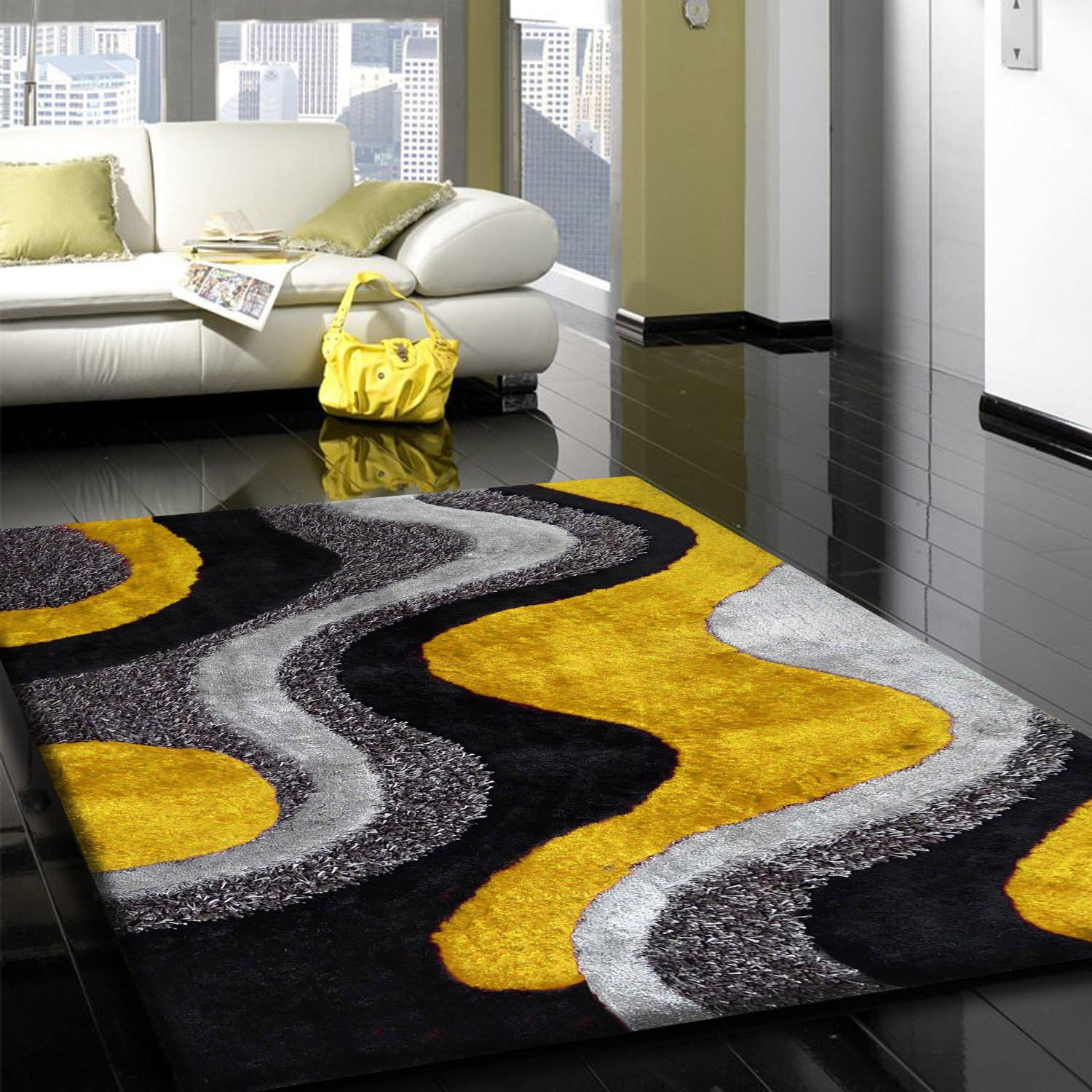 gray and yellow rug best decor things. Black Bedroom Furniture Sets. Home Design Ideas