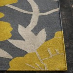 Gray Yellow Area Rug