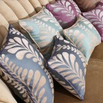 Green and Purple Throw Pillows