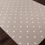 Grey and White Polka Dot Rug
