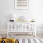 Grey and White Rug for Nursery