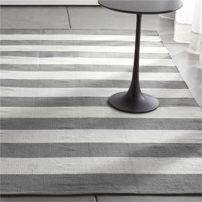 Grey And White Striped Rug Best Decor Things
