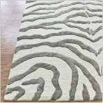 Grey and White Zebra Rug