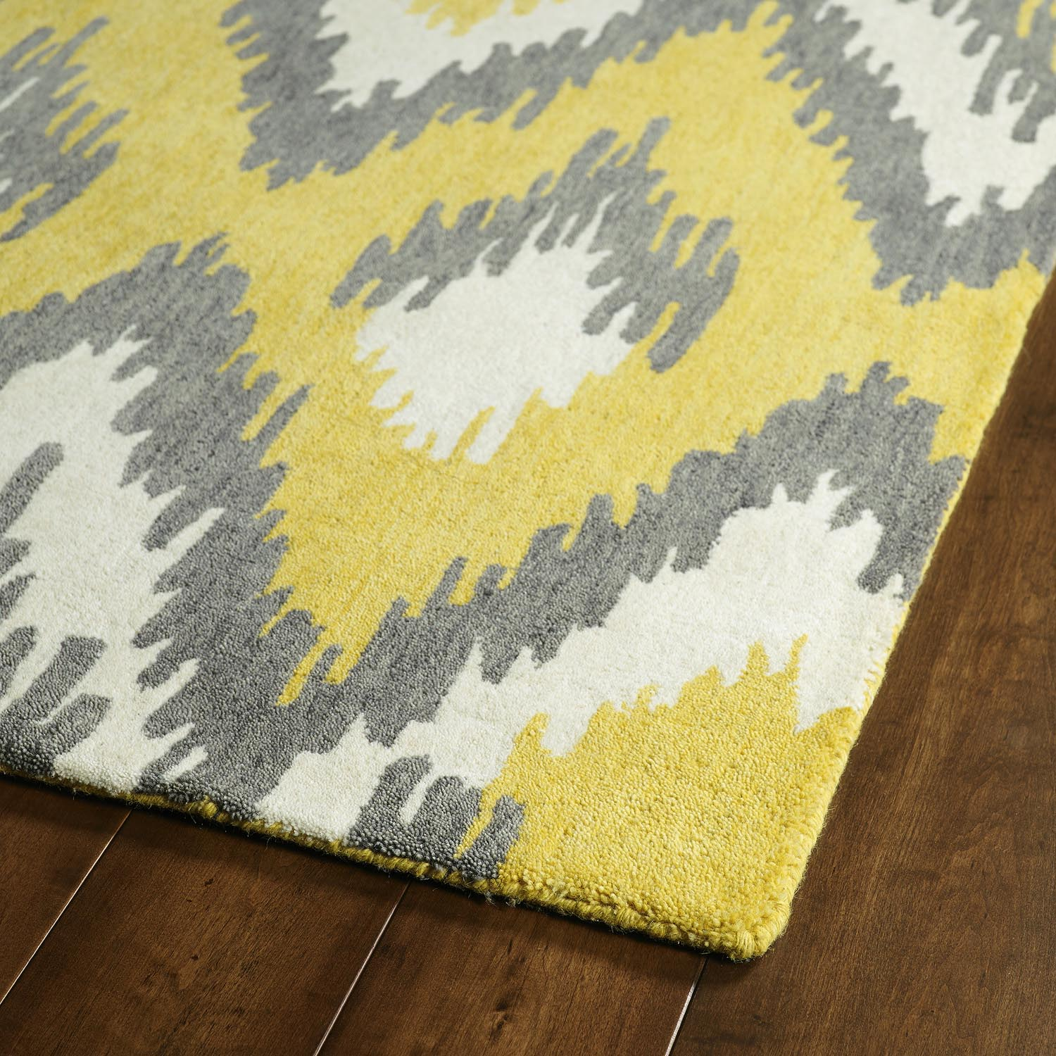 Grey Yellow Area Rug