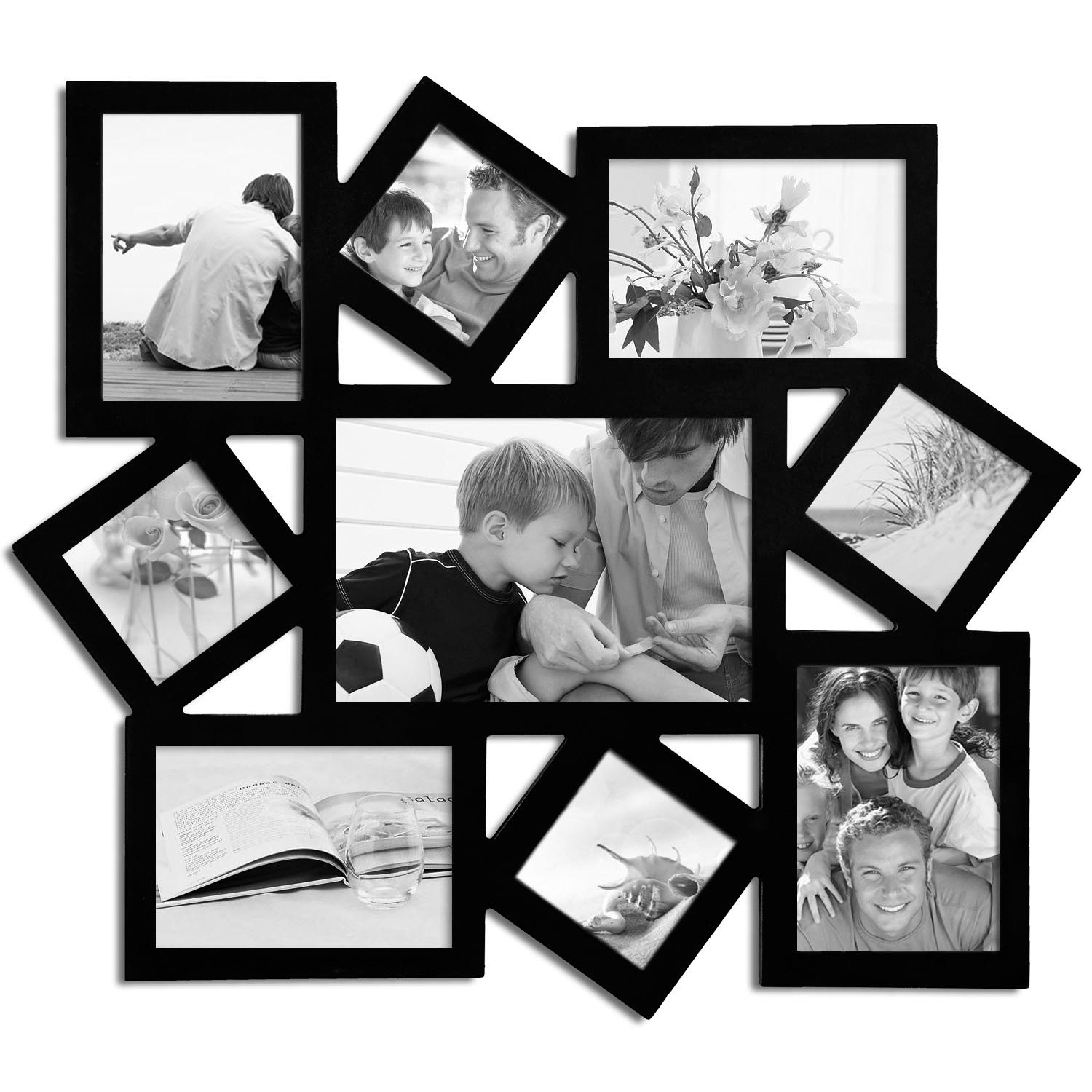 Large multiple picture frames best decor things for Cadre multi photos mural