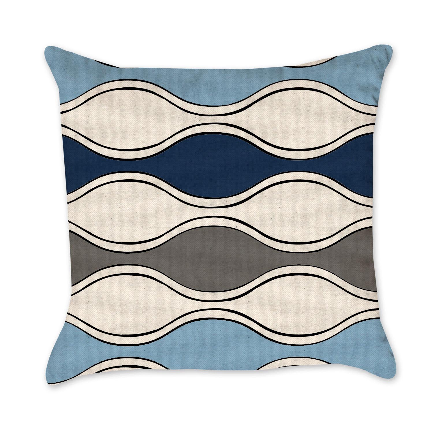 Light Blue Chevron Pillows