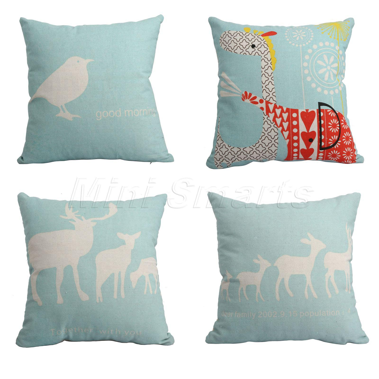 Light Blue Decorative Pillows