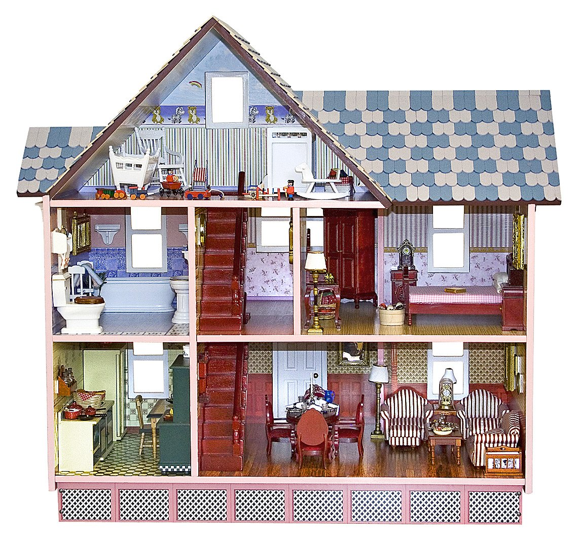 Melissa and doug victorian dollhouse furniture best for Victorian style kit homes