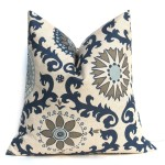 Navy Blue Decorative Pillows