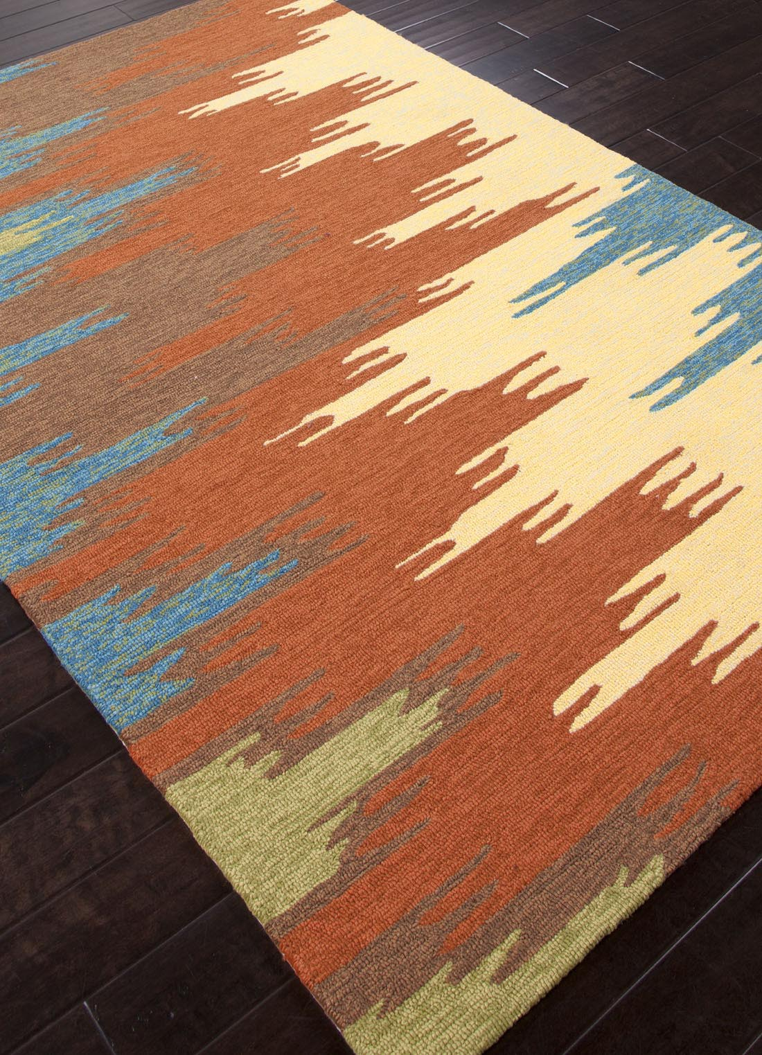 Orange and Blue Area Rug