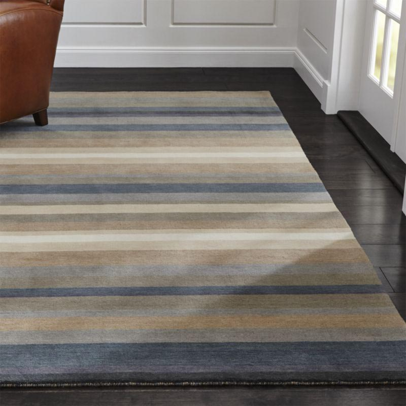 Orange and Gray Area Rug